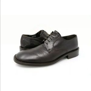 Kenneth Cole Oxford Dress Shoes Square Toe Leather